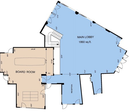 Songhees Events Centre Boardroom Reception Floorplan